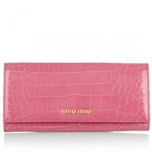 Miu Miu Portafoglio St.Cocco Lux Geranio in rosa