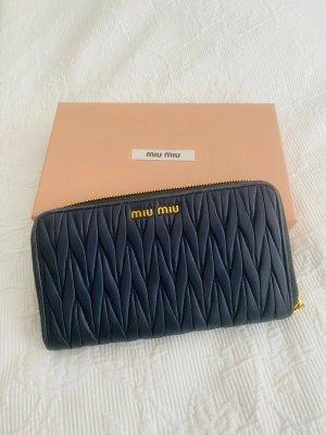 Miu Miu Wallet dark blue leather