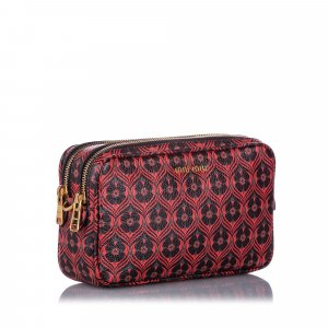 Miu Miu Printed Madras Crossbody Bag