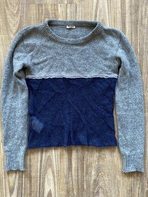Miu Miu Maglione girocollo grigio-blu scuro Lana