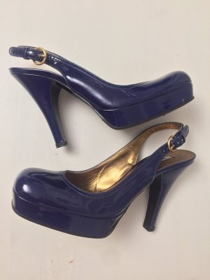 Miu Miu Slingback Pumps dark blue