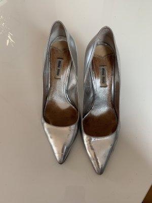 Miu Miu High Heels silver-colored
