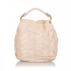 Miu Miu Bolso rosa claro Cuero