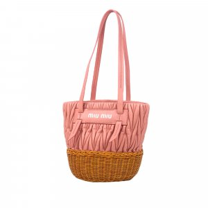 Miu Miu Rattan Bucket Bag