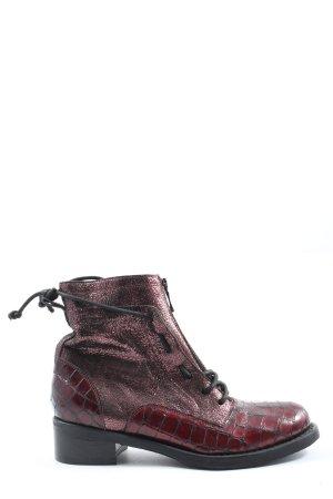 Miu Miu Reißverschluss-Stiefeletten rot Casual-Look