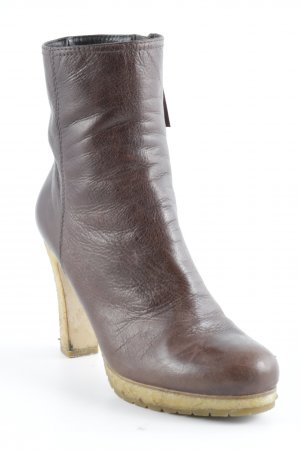 Miu Miu Reißverschluss-Stiefeletten braun-hellgelb Casual-Look