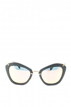 Miu Miu Retro Brille schwarz-braun Casual-Look