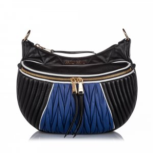 Miu Miu Rider Leather Shoulder Bag