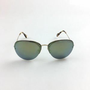 Miu Miu Round Rimless Metal Sunglasses