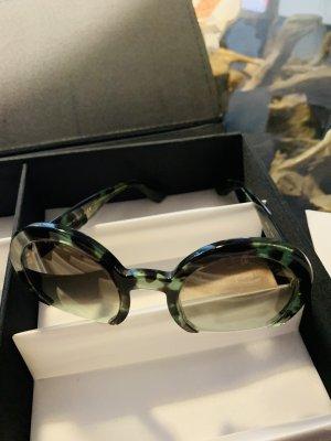 MIU MIU runde Sonnenbrille RASOIR, run, grün, braun NP 295€