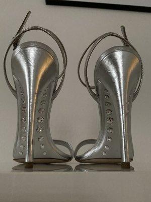 Miu Miu Plateauzool sandalen zilver