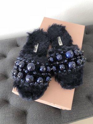 Miu Miu Outdoor Sandals dark blue