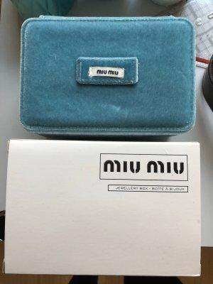 Miu Miu Borsa clutch nero-azzurro