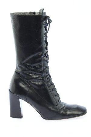 Miu Miu Aanrijg laarzen zwart casual uitstraling