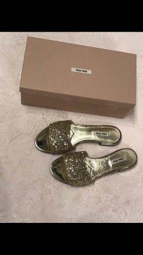 Miu Miu Dianette sandalen goud