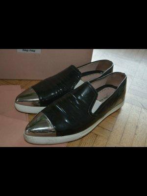 Miu Miu Schuhe Cap Toe Slip Ons - Gr. 40.5