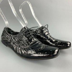 Miu Miu Schuhe Gr. 40 Lack Perforiert Leder Dunkel Grün Luxus Pur