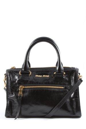 Miu Miu Sac porté épaule noir style d'affaires