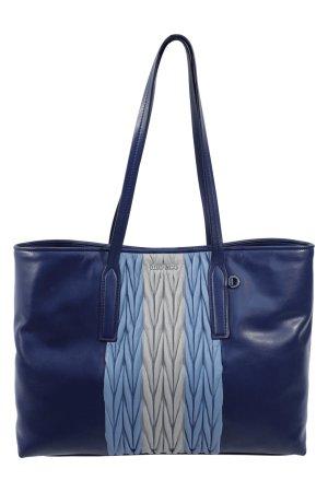 Miu Miu Schultertasche in Blau aus Leder