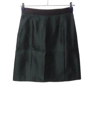 Miu Miu Seidenrock schwarz-grün Casual-Look