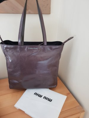 Miu Miu Bolso barrel color plata-marrón grisáceo