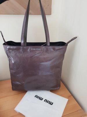 Miu Miu Shopper argenté-gris brun