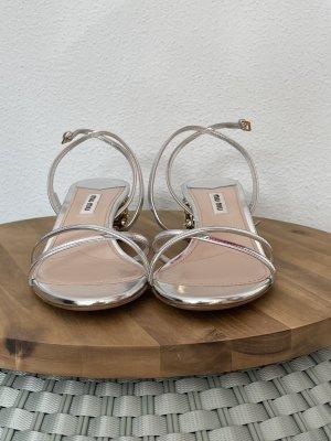 Miu Miu Silber Sandalen