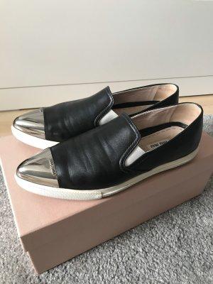 Miu Miu Slip-on Sneakers multicolored leather