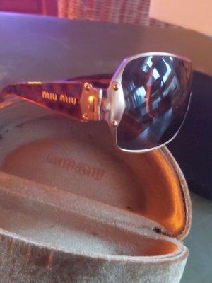 Miu Miu Oval Sunglasses bronze-colored-gold-colored