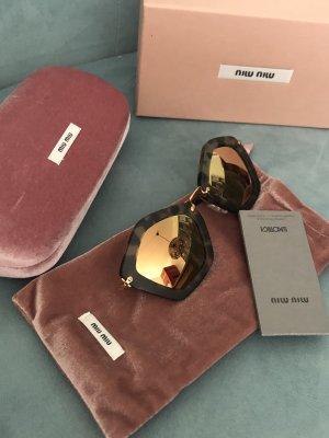 Miu Miu Sonnenbrille mit Gold verspiegelten Gläsern