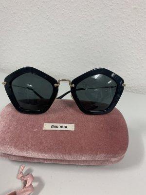 Miu Miu Angular Shaped Sunglasses black