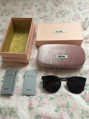 Miu Miu Gafas Retro negro-color oro