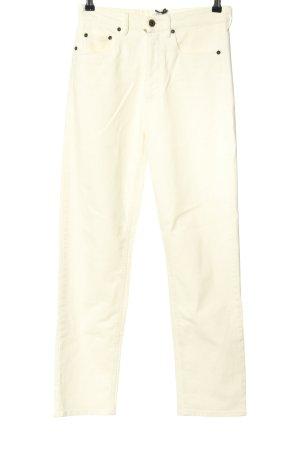 Miu Miu Straight-Leg Jeans wollweiß Casual-Look