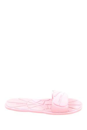 Miu Miu Sandalias de playa rosa estampado floral look casual