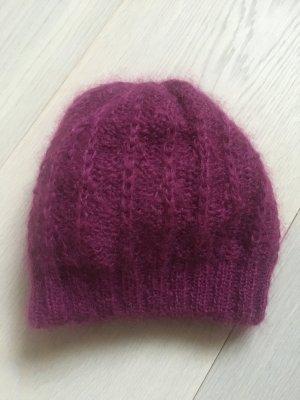 Miu Miu Cappello a maglia viola Lana
