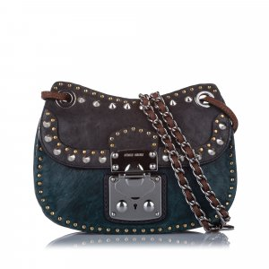 Miu Miu Studded Leather Crossbody