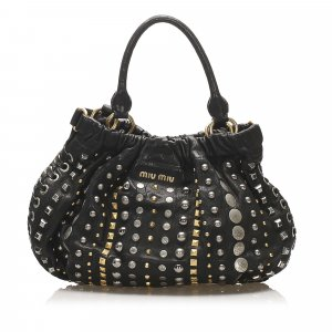 Miu Miu Studded Leather Satchel