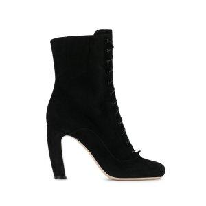Miu Miu Suede Lace Up Boots