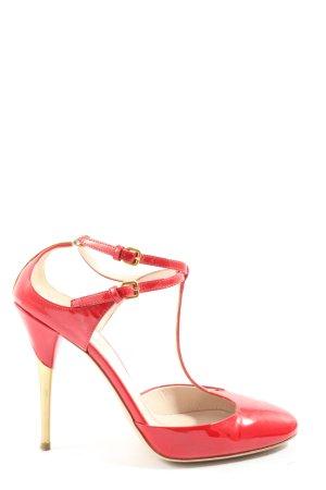 Miu Miu T-Steg-Sandaletten rot Business-Look