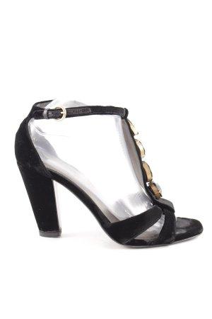 Miu Miu T-Steg-Sandaletten schwarz Casual-Look