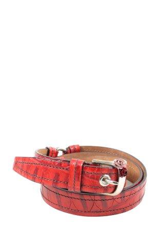 Miu Miu Cinturón pélvico rojo-negro look casual
