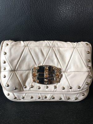 Miu Miu Tasche Clutch Creme Leder Crystal