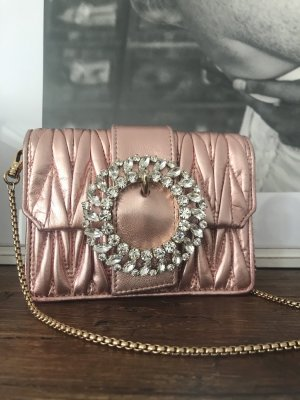 Miu Miu Borsetta mini color oro rosa