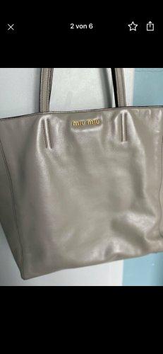 Miu Miu Shopper gris clair-beige clair