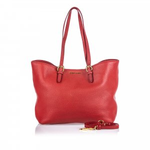 Miu Miu Tote red leather