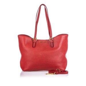Miu Miu Vitello Daino Shopping Bag