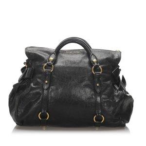 Miu Miu Vitello Lux Bow Handbag