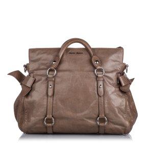 Miu Miu Satchel brown leather