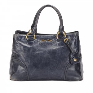Miu Miu Handbag dark blue leather