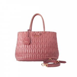 Miu Miu Vitello Shine Loto Trapu Satchel
